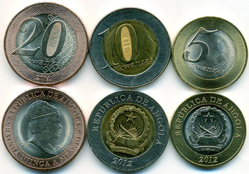 Angola 2012 - 2014 3 coins UNC