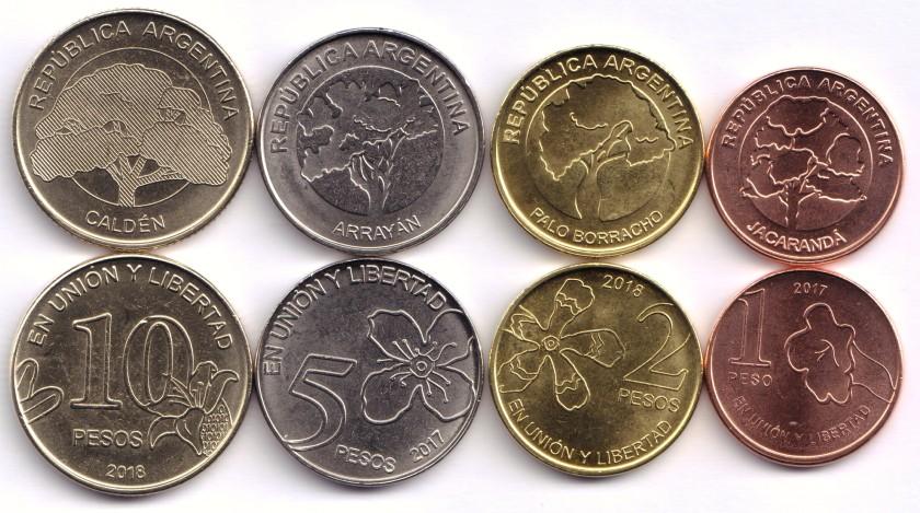 Argentina 2017-2018 4 coins UNC
