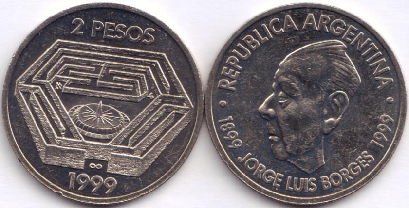 Argentina 1999 KM# 128 2 Pesos UNC