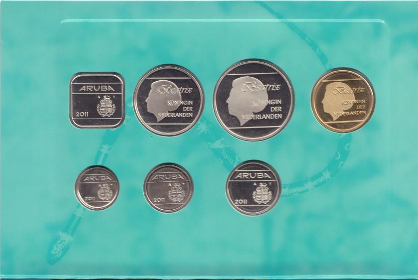 Aruba 2011 KM# 1 - 6, 38 Mint Set 7 coins UNC