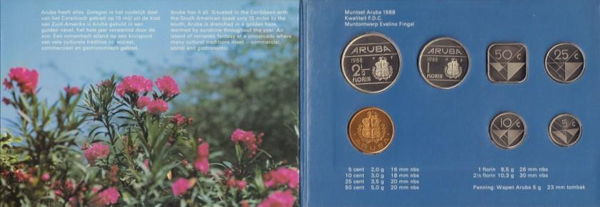 Aruba 1988 KM# 1 - 6 Mint Set 6 coins UNC