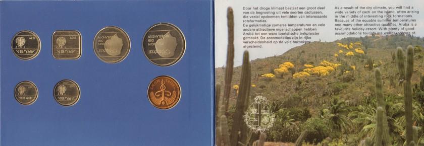 Aruba 1989 KM# 1 - 6 Mint Set 6 coins UNC