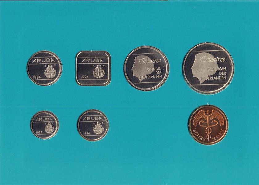 Aruba 1994 KM# 1 - 6 Mint Set 6 coins UNC