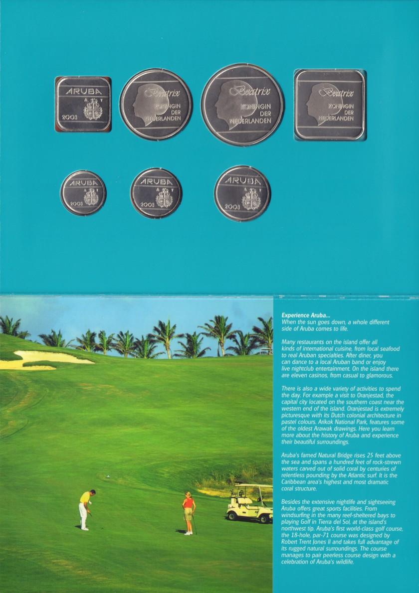 Aruba 2003 KM# 1 - 6, 12 Mint Set 7 coins UNC