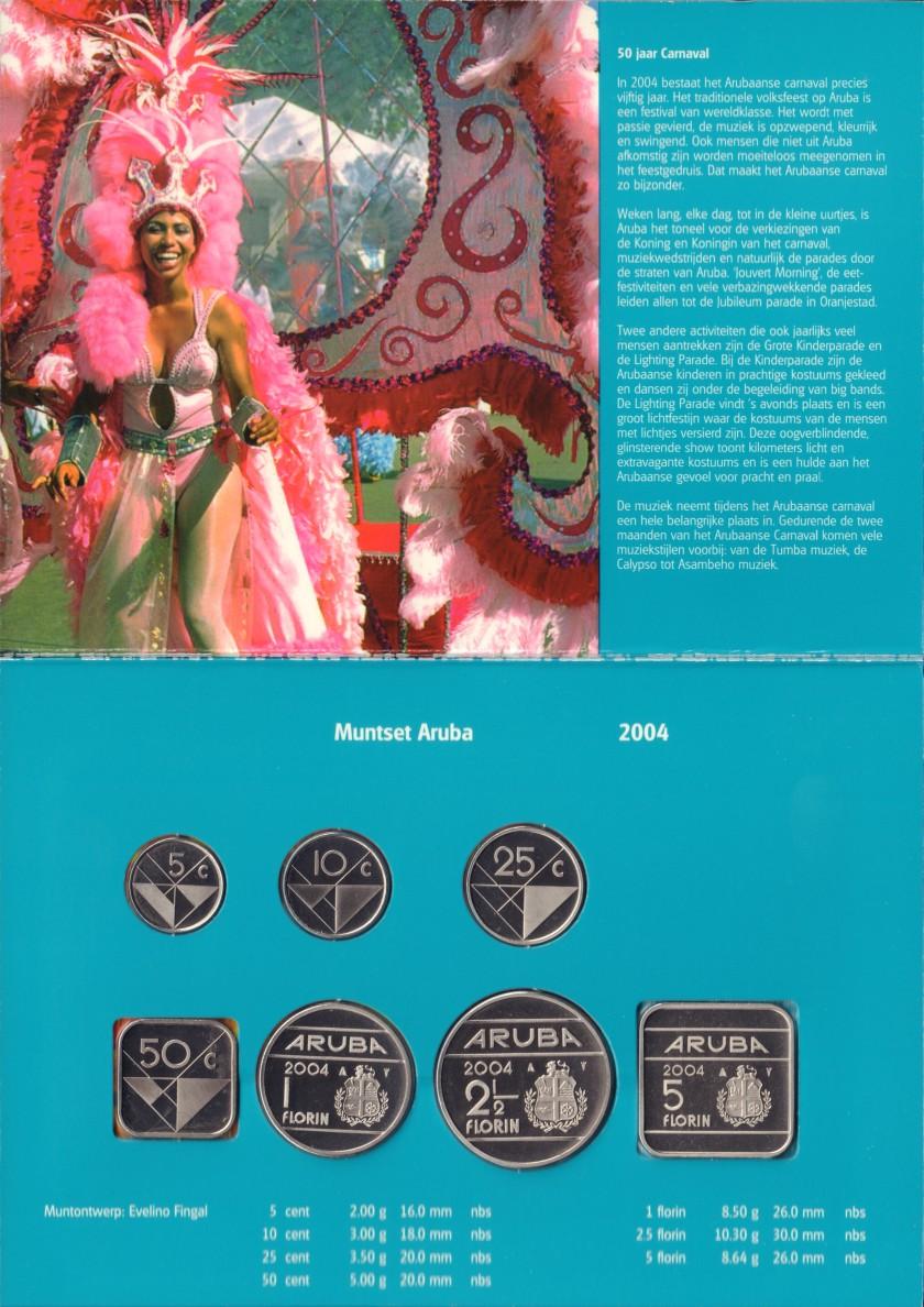 Aruba 2004 KM# 1 - 6, 12 Mint Set 7 coins UNC