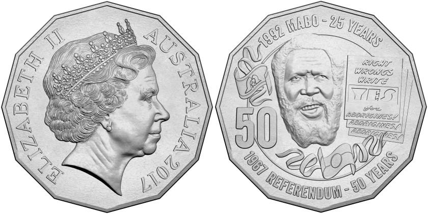 Australia 2017 50 Cents Eddie Mabo UNC