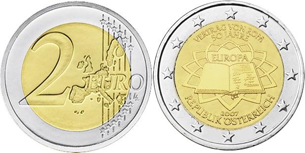 Austria 2007 2 Euro 50th anniversary of the Treaty of Rome UNC