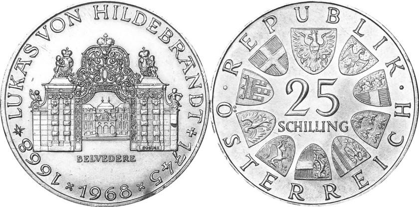 Austria 1968 KM# 2903 25 Schilling UNC