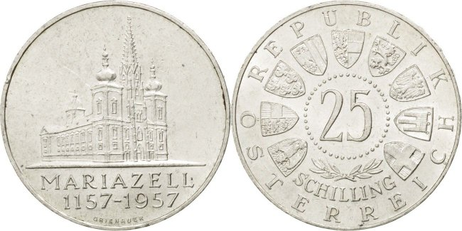 Austria KM# 2883 25 Schilling 1957 UNC