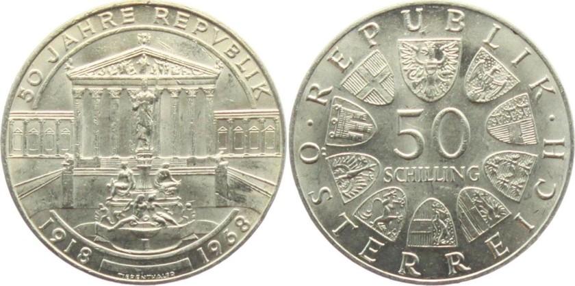 Austria 1968 KM# 2904 50 Schilling UNC