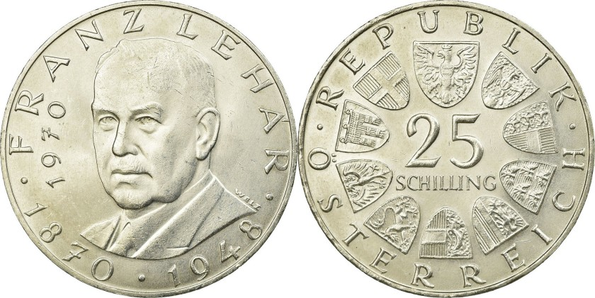 Austria 1970 KM# 2907 25 Schilling UNC