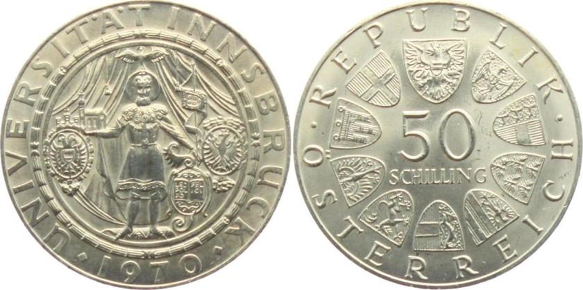 Austria 1970 KM# 2908 50 Schilling UNC