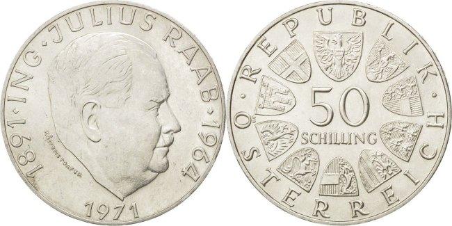 Austria 1971 KM# 2911 50 Schilling UNC