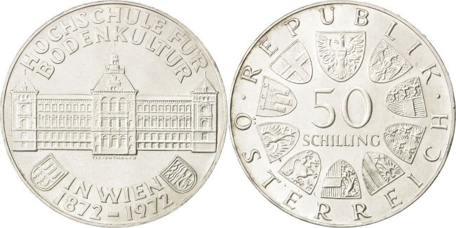 Austria 1972 KM# 2914 50 Schilling UNC