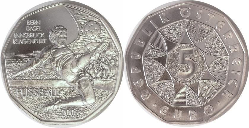 Austria 2008 KM# 3163 5 Euro UNC