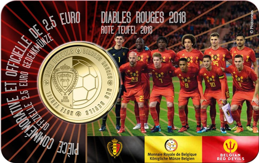 Belgium 2018 2.5 Euro Red Devils (French) UNC
