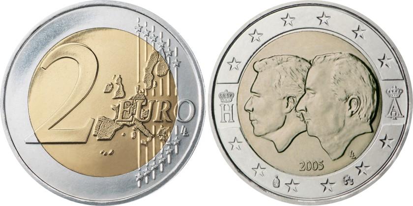 Belgium 2005 2 Euro Belgium-Luxembourg Economic Union UNC