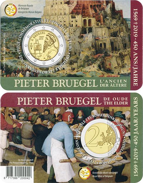 Belgium 2019 2 Euro 450th Anniversary of the Death of Pieter Bruegel the Elder