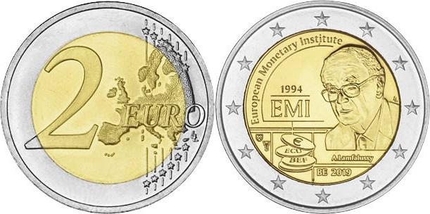 Belgium 2019 2 Euro 25th anniversary of the European Monetary Institute (EMI)
