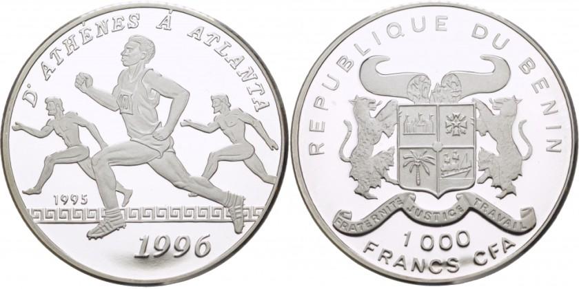 Benin 1995 KM# 12 1000 Francs UNC