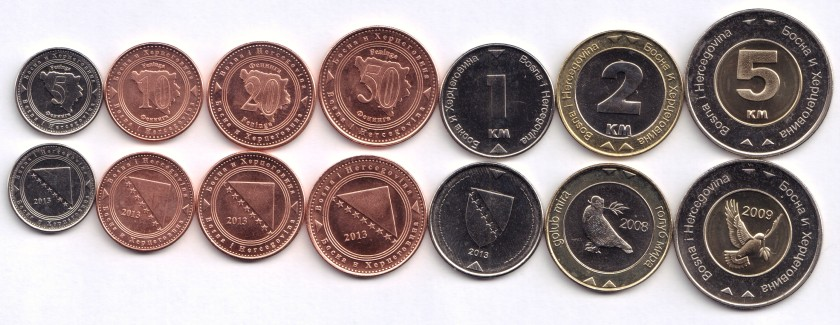 Bosnia and Herzegovina 2008 - 2013 7 coins UNC