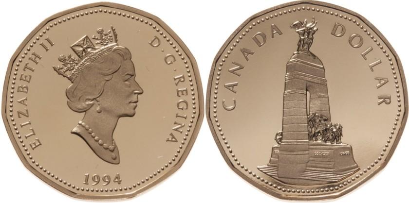 Canada 1994 KM# 248 1 Dollar UNC