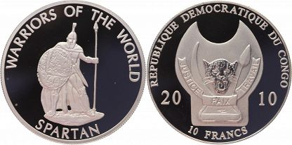 Congo Democratic Republic 2010 KM# 201 10 Francs Proof-like