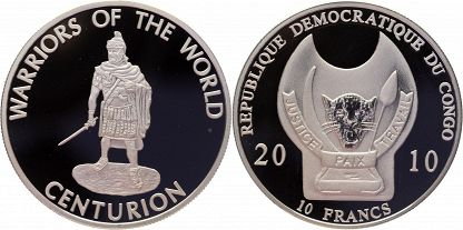Congo Democratic Republic 2010 KM# 202 10 Francs Proof-like