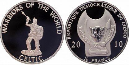 Congo Democratic Republic 2010 KM# 205 10 Francs Proof-like