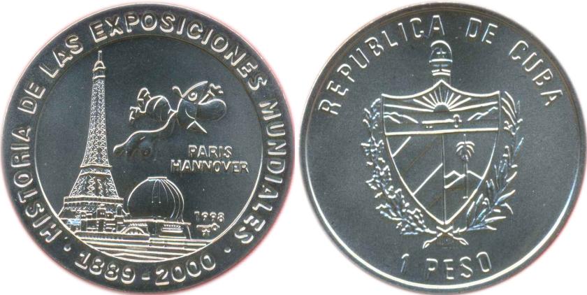 Cuba 1998 Expo 2000 Paris - Hannover 1 Peso UNC