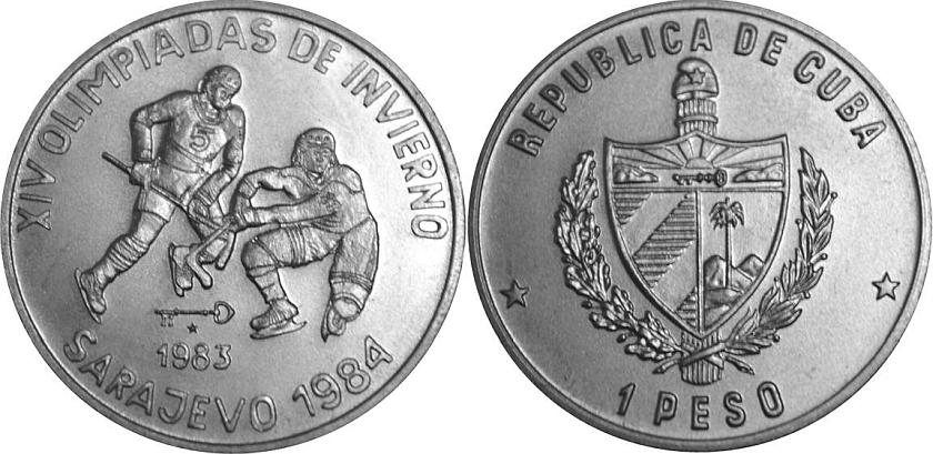 Cuba 1983 KM# 196 1 Peso UNC
