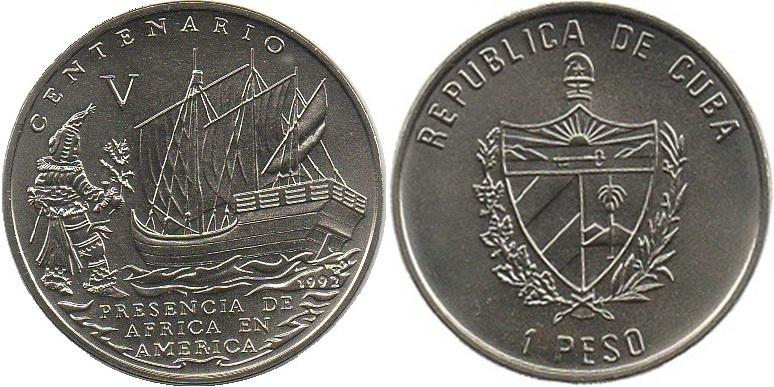 Cuba 1992 KM# 462 1 Peso UNC