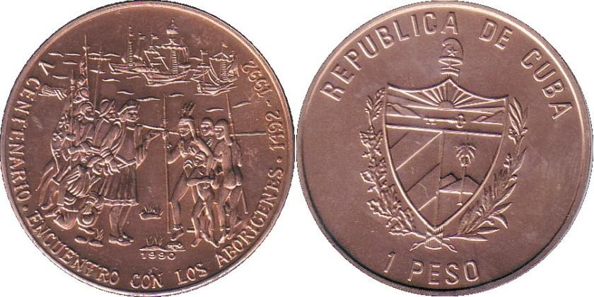 Cuba 1990 KM# 471 1 Peso UNC