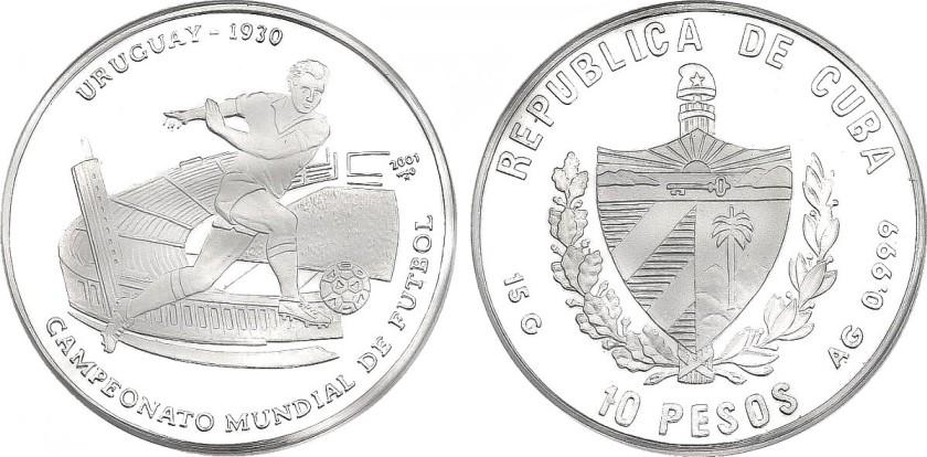Cuba 2001 KM# 773 10 Pesos UNC