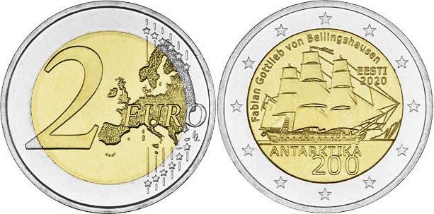 Estonia 2020 2 Euro The bicentenary of the discovery of Antarctica