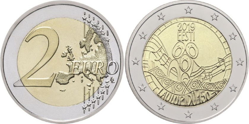 Estonia 2019 2 Euro The 150th anniversary of the first song festival UNC