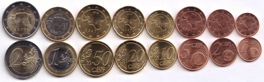 Estonia 2018 Euro coins set UNC