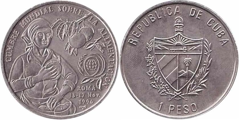 Cuba 1996 KM# 731 1 Peso FAO UNC