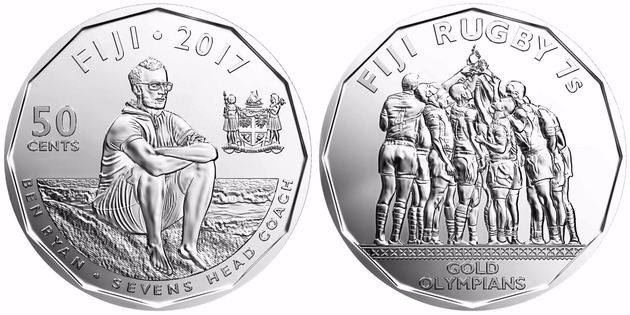 Fiji 2017 Rugby sevens olympic winners 50 Cents UNC