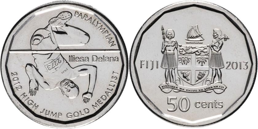 Fiji 2013 KM# 515 50 Cents Iliesa Delana UNC