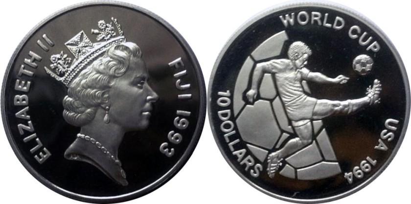 Fiji 1993 KM# 68 10 Dollars Proof