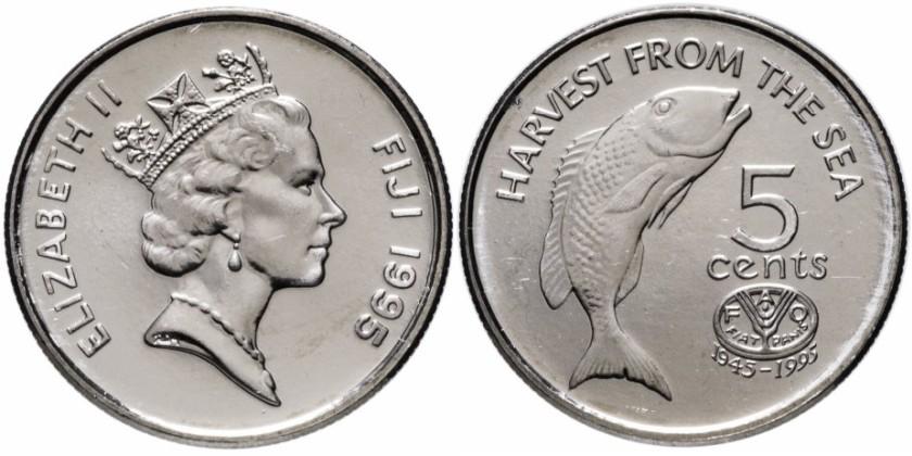 Fiji 1995 KM# 77 5 Cents FAO UNC