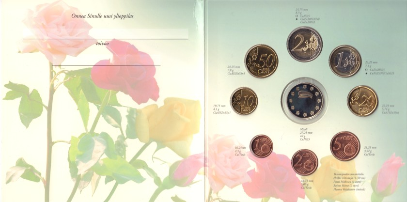 Finland 2008 Mint set of euro coins BU