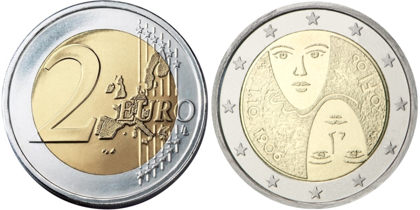 Finland 2006 2 Euro 100th anniversary of universal and equal suffrage UNC