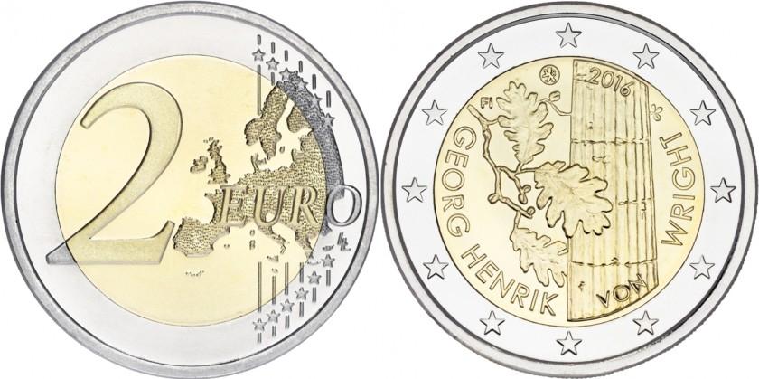 Finland 2016 2 Euro Georg Henrik von Wright UNC