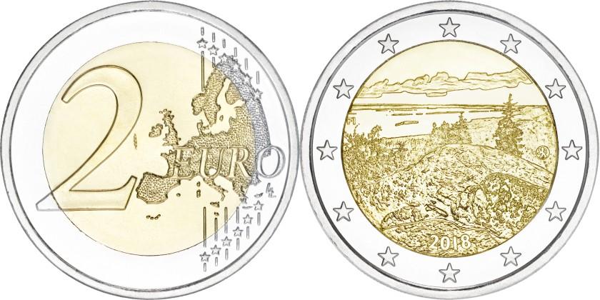Finland 2018 2 Euro Finnish national landscape Koli UNC