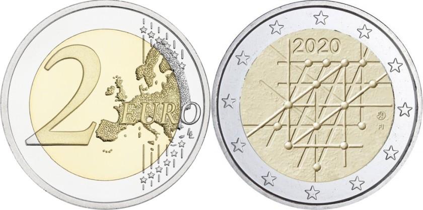 Finland 2020 2 Euro The 100th anniversary of the University of Turku UNC