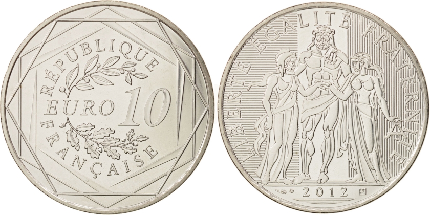 France 2012 10 Euro UNC