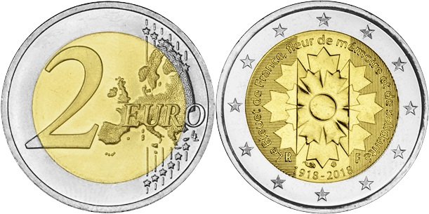 France 2018 2 Euro The Great War - TheCornflower UNC