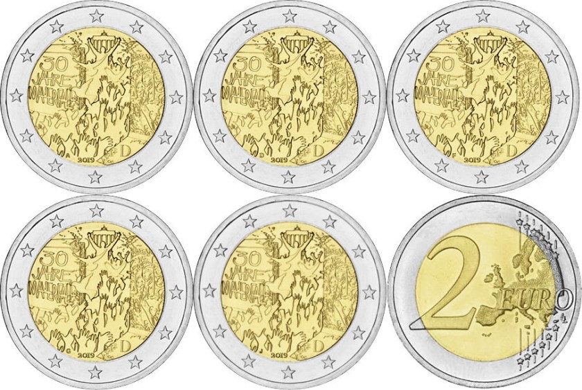 Germany 2019 2 Euro 30th anniversary of the fall of the Berlin wall ADFGJ
